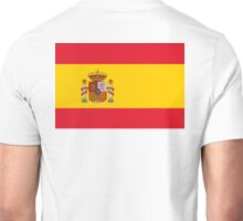 SPAIN, SPANISH, Espania, Flag of Spain, Spanish Flag, Bandera de España, Kingdom of Spain, Unisex T-Shirt