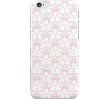 Minimalistic Floral Pattern in Pastel Pink iPhone Case/Skin