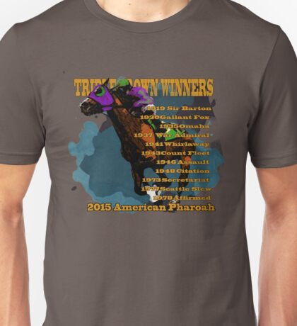 Triple Crown Winners 2015 Unisex T-Shirt