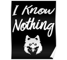 I know nothing... And you? Poster