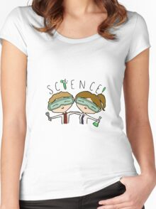 Science Babies Women's Fitted Scoop T-Shirt