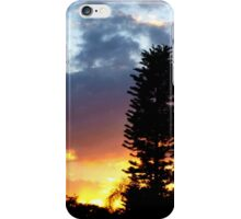 Sunset on my street iPhone Case/Skin