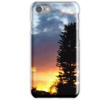 Sunset on my street iPhone Case/Skin