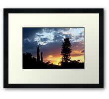 Sunset on my street Framed Print