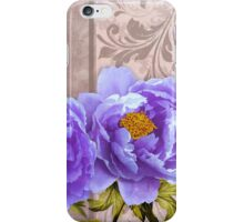 Tryst, lavender blue peonies still life floral art iPhone Case/Skin