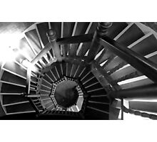 Black and white spiral staircase Photographic Print