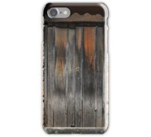 Weathered Gray Door in a Brick Wall iPhone Case/Skin