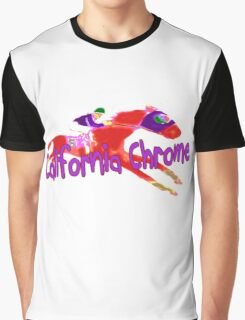 Fun California Chrome Design Graphic T-Shirt