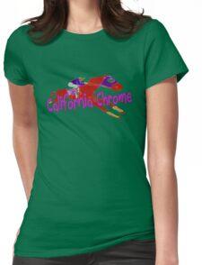 Fun California Chrome Design Womens Fitted T-Shirt