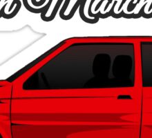 Nissan March/Micra K10 Red Sticker