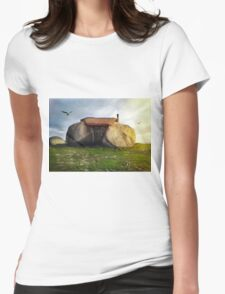 Portugal Stone House Womens Fitted T-Shirt