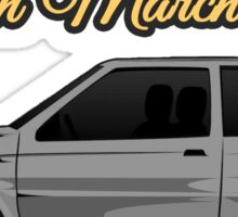 Nissan March/Micra K10 Grey Yellow Sticker