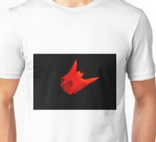 red tulip on black Unisex T-Shirt