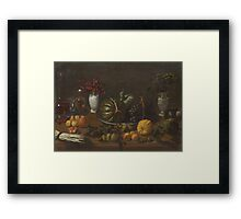CRESCENZI, GIOVANNI BATTISTA (Rome  Madrid) A still life with fruit and vegetables... Framed Print