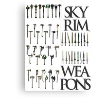 Skyrim Weapons Canvas Print