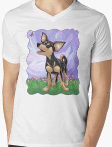 Animal Parade Chihuahua Mens V-Neck T-Shirt