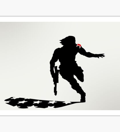 The Winter Solider Silhouette Sticker