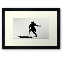 The Winter Solider Silhouette Framed Print