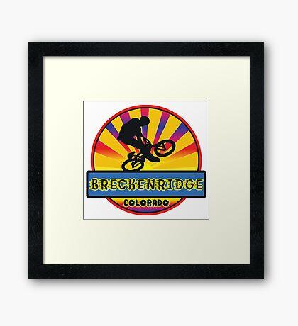 MOUNTAIN BIKE BRECKENRIDGE COLORADO BIKING MOUNTAINS Framed Print