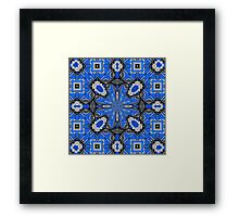 Abstract in Blue & Gray Framed Print