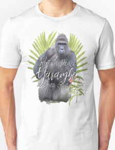 Harambe RIP Silverback Gorilla Gentle Giant Watercolor Tribute Animal Rights Activist Zoo T-Shirt