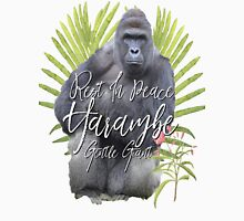 Harambe RIP Silverback Gorilla Gentle Giant Watercolor Tribute Cincinnati Zoo Unisex T-Shirt