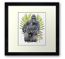 Harambe RIP Silverback Gorilla Gentle Giant Watercolor Tribute Cincinnati Zoo Framed Print