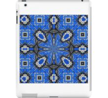 Abstract in Blue & Gray iPad Case/Skin
