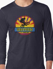 MOUNTAIN BIKE BREVARD NORTH CAROLINA BIKING MOUNTAINS Long Sleeve T-Shirt