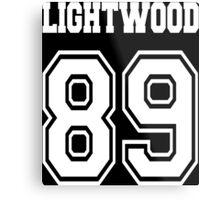 Lightwood 89 White Metal Print
