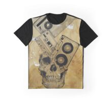 Skull Mix Cassette Tapes Graphic T-Shirt