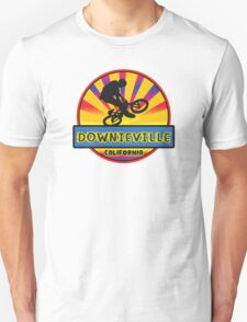 MOUNTAIN BIKE DOWNIEVILLE CALIFORNIA BIKING MOUNTAINS Unisex T-Shirt