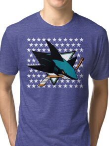 San Jose Sharks Tri-blend T-Shirt