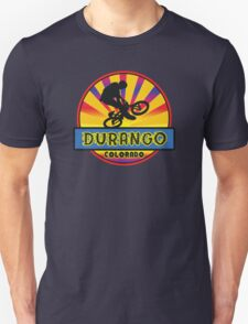 MOUNTAIN BIKE DURANGO COLORADO BIKING MOUNTAINS Unisex T-Shirt