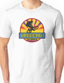 MOUNTAIN BIKE DURANGO COLORADO BIKING MOUNTAINS Unisex T-Shirt