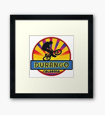 MOUNTAIN BIKE DURANGO COLORADO BIKING MOUNTAINS Framed Print