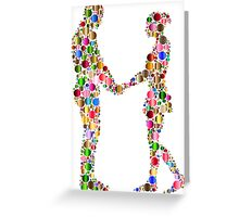 couple abstract Greeting Card