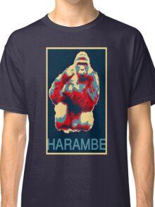 Harambe RIP Silverback Gorilla Gentle Giant Obama Style Poster Tribute Cincinnati Zoo Classic T-Shirt