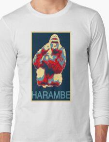 Harambe RIP Silverback Gorilla Gentle Giant Obama Style Poster Tribute Cincinnati Zoo Long Sleeve T-Shirt