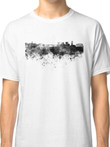 Luxembourg skyline in black watercolor Classic T-Shirt