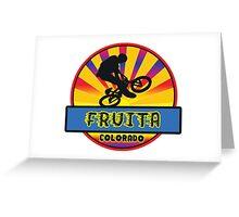 MOUNTAIN BIKE FRUITA COLORADO BIKING MOUNTAINS Greeting Card