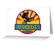 MOUNTAIN BIKE JACKSON WYOMING BIKING MOUNTAINS Greeting Card
