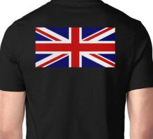 Union Jack, British Flag, UK, United Kingdom, Blighty, Pure & simple 1:2 on BLACK Unisex T-Shirt