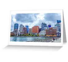SKYLINE City of San Francisco along the Embarcadero Greeting Card