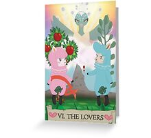 Tarot - VI The Lovers: Reese and Cyrus ACNL Greeting Card