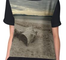 Driftwood On West Sands Chiffon Top
