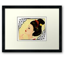 Japanese woman (B) Framed Print