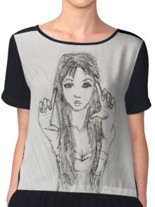 The Girl - Photographer Chiffon Top