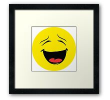 emotion Laugh Framed Print