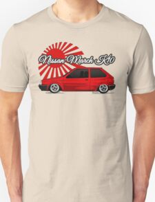 Nissan March/Micra K10 Rising Sun Red Unisex T-Shirt